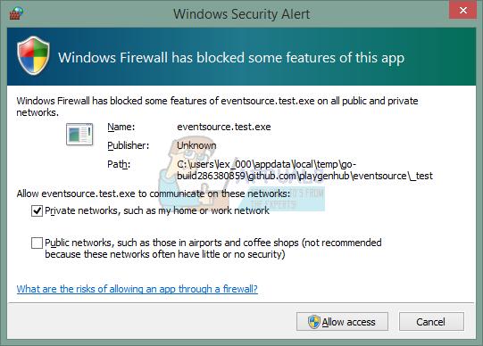 Fix: Die Windows-Firewall hat einige Funktionen dieses Programms oder dieser App blockiert