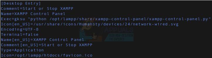So erstellen Sie einen Linux Launcher für die XAMPP-Systemsteuerung