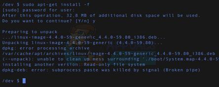 So beheben Sie Linux Broken Pipe-Fehler