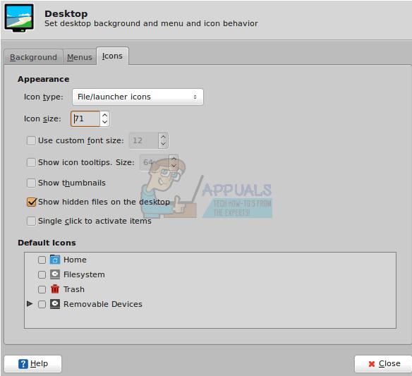 So ändern Sie die Größe des Desktop-Symbols unter Ubuntu
