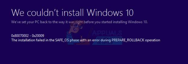 """Fix: 0x80070002-0x20009 """"Die Installation ist während des PREPARE_ROLLBACK-Vorgangs fehlgeschlagen."""""""