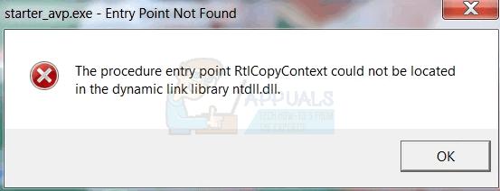 Fix: Der Prozedureintrittspunkt 'Name' konnte nicht in der Dynamic Link Library gefunden werden