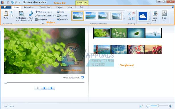Fix: Movie Maker zeigt keine Bilder oder Videos an. Spielt nur Audio ab