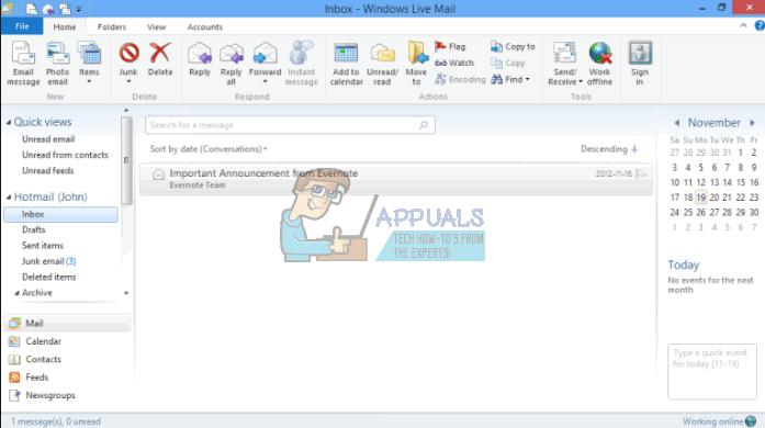 So ändern Sie die Schriftgröße für Windows Live Mail unter Windows 10