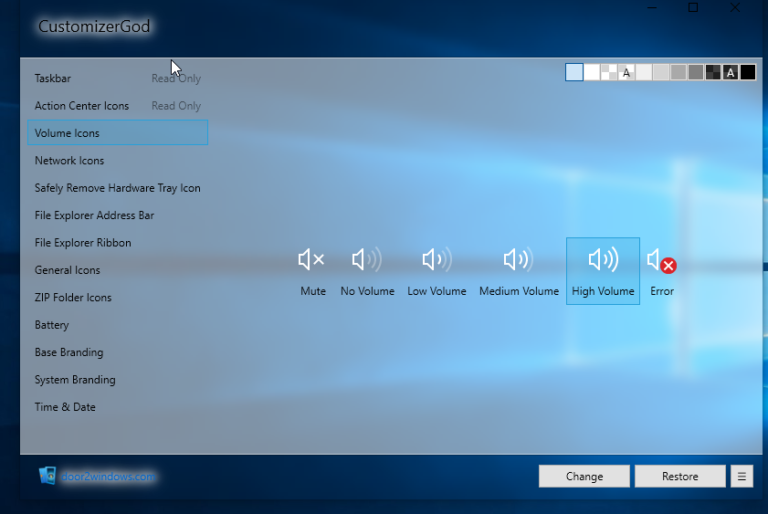 Ändern oder Anpassen von Taskleistensymbolen unter Windows 10