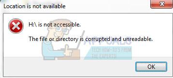 Fix: Die Datei oder das Verzeichnis ist beschädigt und nicht lesbar