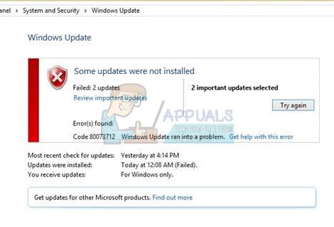 Fix: Windows Update Fehler 0x80073712