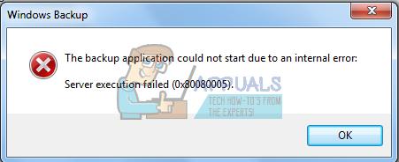 Fix: Serverausführung fehlgeschlagen Fehler 0x80080005