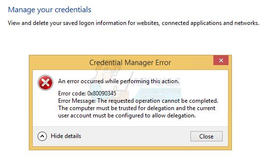 So beheben Sie den Credential Manager-Fehler 0x80090345