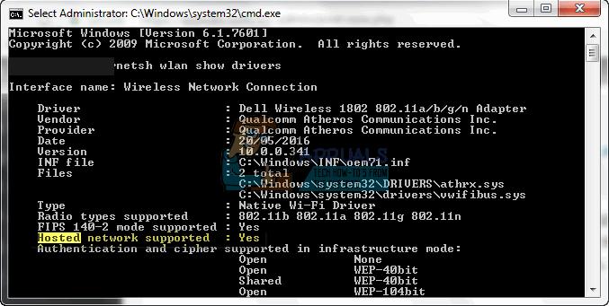 Fix: Gehostete Netzwerkprobleme unter Windows 7, 8 oder 10