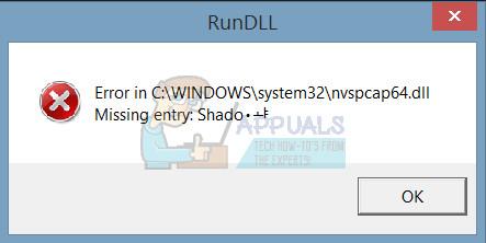 Fix: nvspcap64.dll fehlende oder nicht gefundene Fehler beim Start