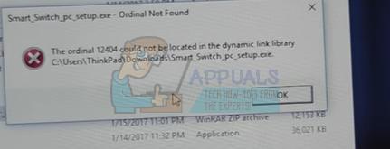 """Fix: Ordinaler Fehler """"Nicht gefunden"""" unter Windows 7, 8 und 10"""