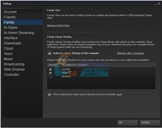 Fix: Steam Family Sharing funktioniert nicht