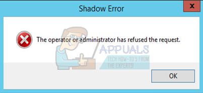 Fix: Der Bediener oder Administrator hat die Anfrage abgelehnt (Fehler 0x800710E0)