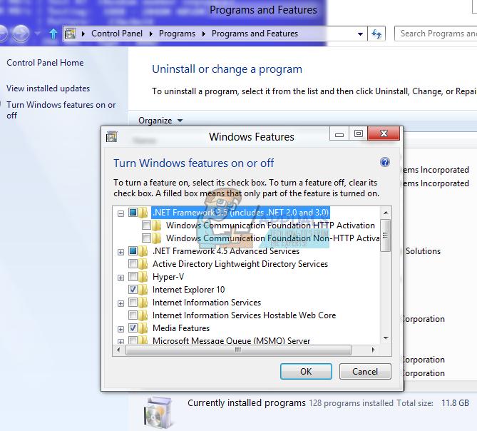 So beheben Sie den Installationsfehler von .NET Framework 3.5 0x800F0922
