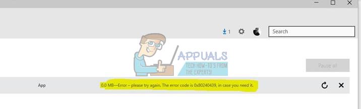 So beheben Sie den App Store-Fehler 0x80240439 unter Windows Mobile und Desktops / Laptops