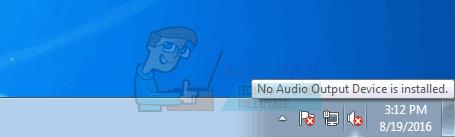 UPDATE: Es ist kein Audioausgabegerät installiert