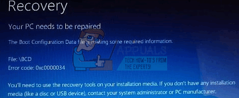 "So beheben Sie den BSOD-Fehler (Blue Screen) 0xc00000034 ""Boot Configuration Data File"""
