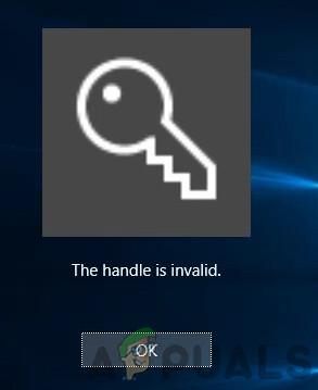 Fix: Das Handle ist eine ungültige Fehlermeldung bei der Anmeldung bei Windows 10
