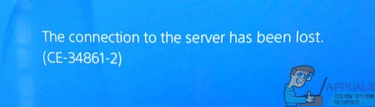 """Gelöst: PS4-Fehler CE-34861-2 """"Die Verbindung zum Server wurde unterbrochen."""""""
