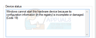 """So beheben Sie Code 19 """"Dieses Hardwaregerät kann nicht gestartet werden"""" Fehler unter Windows 7/8 und 10"""