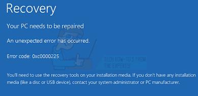So beheben Sie den Fehler 0xc0000225 unter Windows 10