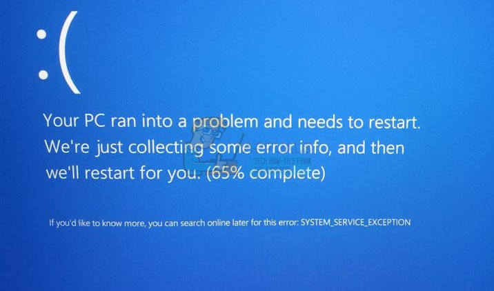 UPDATE: SYSTEM_SERVICE_EXCEPTION – Appuals.com