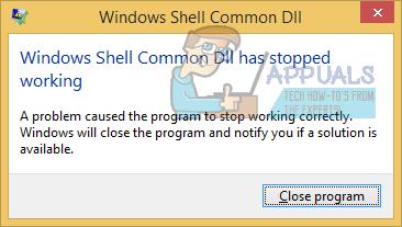 UPDATE: Die allgemeine Windows Shell-DLL funktioniert nicht mehr