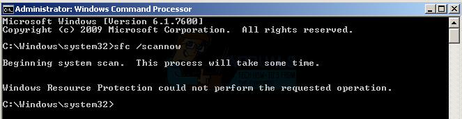 Fix: Windows-Ressourcenschutz kann den angeforderten Vorgang nicht ausführen