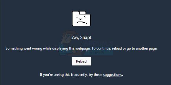 FIX: Aw, Snap!  Fehler bei Google Chrome