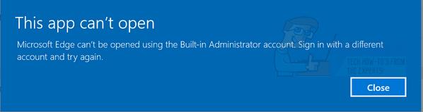 Gelöst: Apps können nicht mit dem integrierten Administratorkonto geöffnet werden