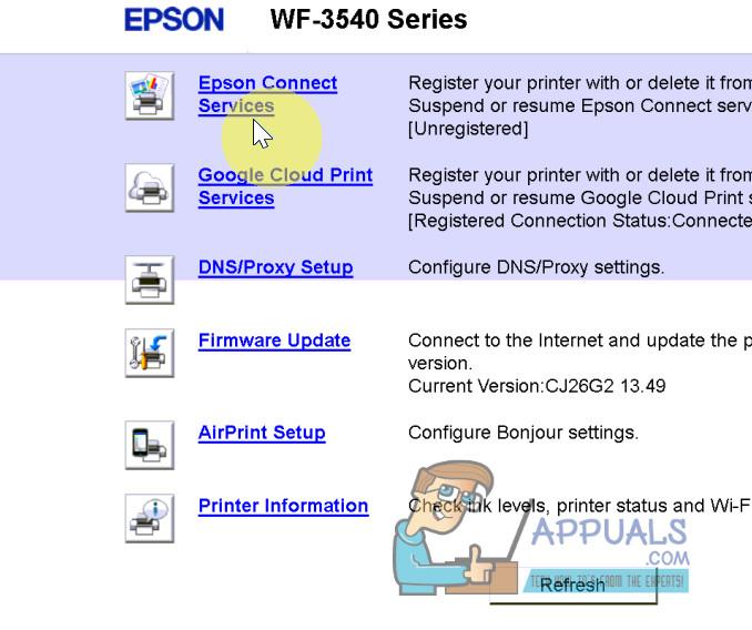 So scannen Sie auf einem Epson WF-3540 in E-Mails