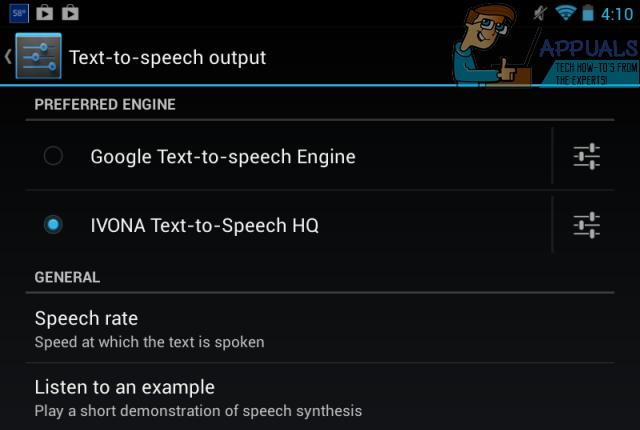 UPDATE: Leider wurde die Samsung Text-to-Speech-Engine gestoppt