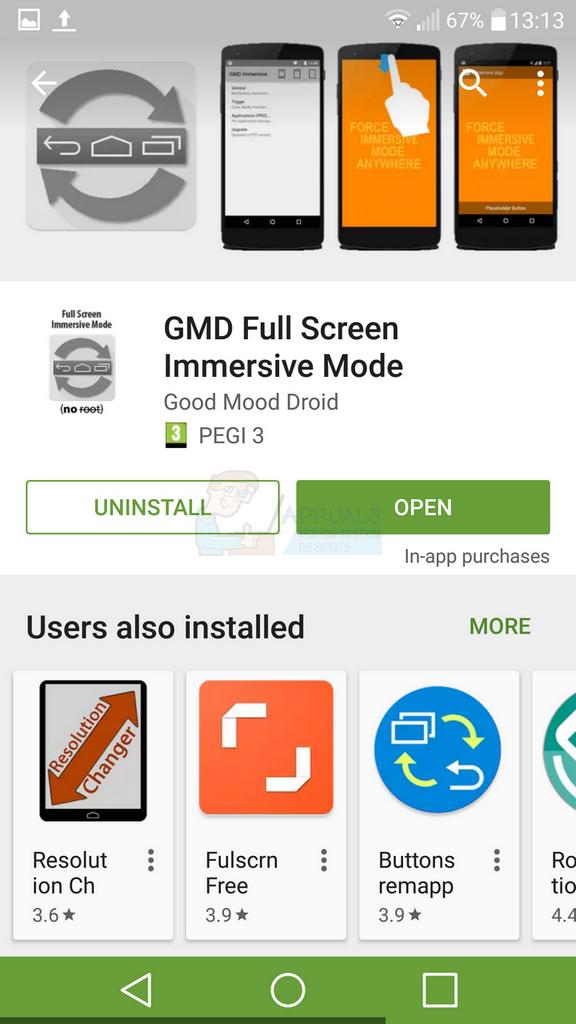 So blenden Sie die Bildschirmschaltflächen unter Android aus