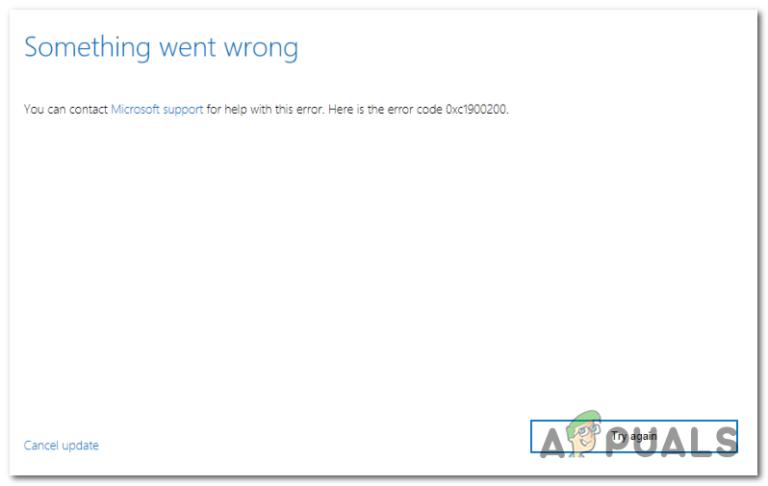 Wie behebt man den Windows 10 Update Fehler 0xc1900200?
