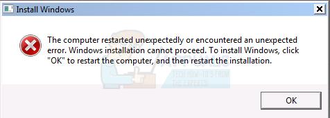Gelöst: Der Computer wurde unerwartet neu gestartet oder es ist ein unerwarteter Fehler aufgetreten