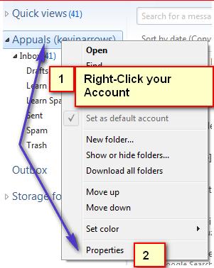 So ändern Sie Ihre E-Mail-Einstellungen in Windows Live Mail