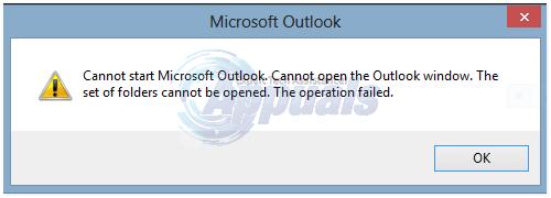 """Fix: Outlook-Fehler """"Der Ordnersatz kann nicht geöffnet werden"""""""