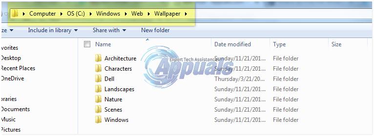 Hintergrundbildpositionen in Windows 7, 8 und 10