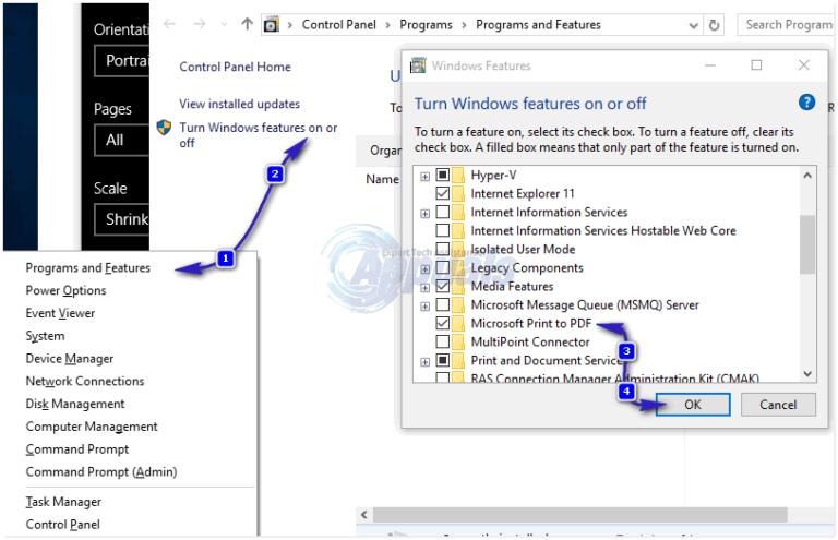 Fix: Print to PDF-Funktion in Windows 10 funktioniert nicht