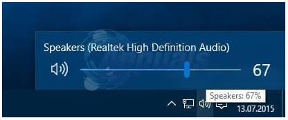 Bringen Sie die alte Lautstärkeregelung in Windows 10 zurück