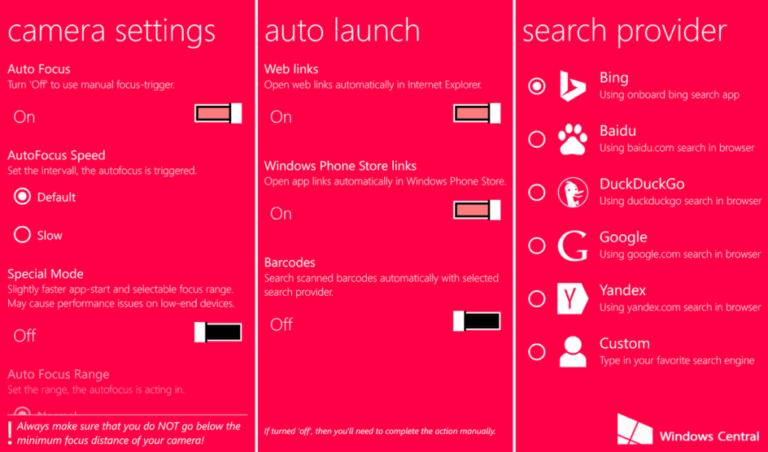 Scannen Sie Barcodes und QR-Codes unter Windows 10 Mobile