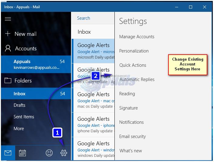 So ändern Sie die Windows 10 Mail App-Synchronisierungseinstellungen