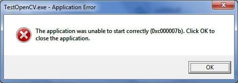 """Fehler 0xc00007b """"Anwendung konnte nicht richtig gestartet werden"""""""