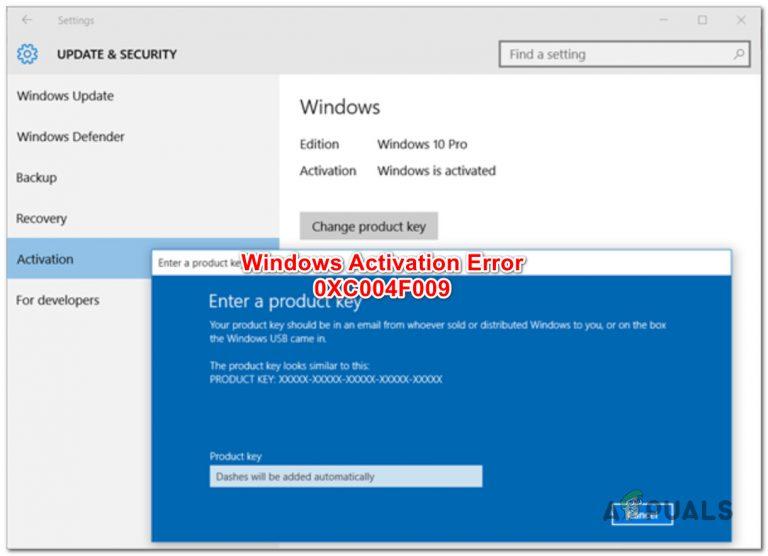 Beheben Sie den Windows-Aktivierungsfehler 0XC004F009 (Kulanzzeitraum abgelaufen)