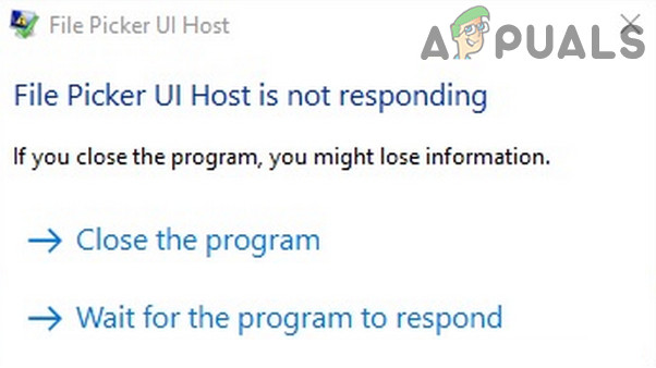Dateiauswahl-UI-Host reagiert nicht (Fix)