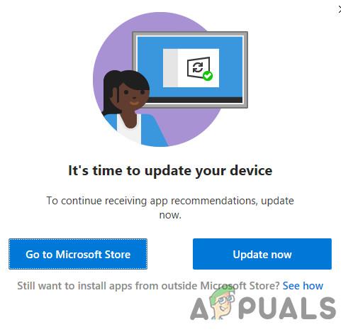 [Fix] 'Es ist Zeit, Ihr Gerät zu aktualisieren' beim Installieren von Software