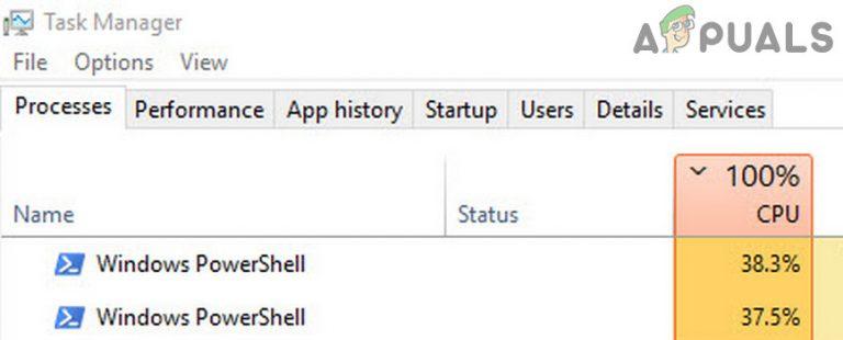 Beheben von hoher CPU-Auslastung durch Windows PowerShell unter Windows 10