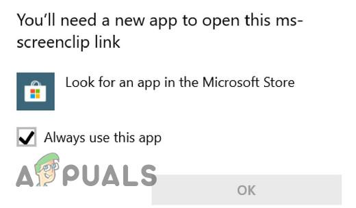 Fix: Sie benötigen eine neue App, um diesen MS-Screenclip-Link zu öffnen
