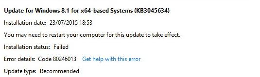 Fix: Windows Update-Fehler 80246013